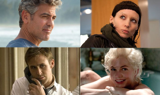 The Ides of March, The Descendants, My Week With Marilyn, The Girl With the Dragon Tattoo
